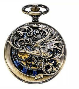 Dragon mechanical pocket watch
